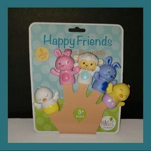 NWT Happy Friends Finger Puppets (5) Piece Set